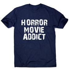 horror movie addict - funny t-shirt men's