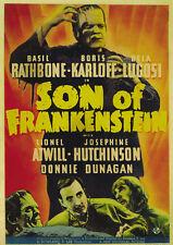 Son of Frankenstein (1939) Bela Lugosi Boris Karloff Horror movie poster 4