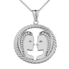 Hk signo del zodíaco hombre del agua plata 925 plata colgante