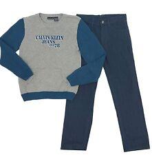 Calvin Klein 2 Piece Set Sweater & Pants Little Boys Kids Sz 6