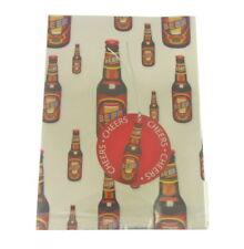"""papier cadeau métallique 1 feuille 1 étiquette Bière et dit """" A bientôt """" 50x"""