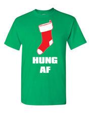 Hung AF As F$$K Merry Christmas Stocking Men's Tee Shirt 1720