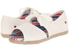 UGG Australia KIDS ASHLEEN Antique White Peep Toe Girl Youth Shoes Size 5, 6 M
