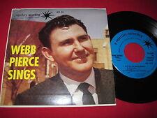 RARE COUNTRY 45 EP PS - WEBB PIERCE SINGS - REPERTORY AD-33 SESAC