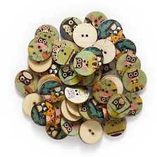 50pcs Animal theme Wood Buttons Sewing Scrapbook Clothing Crafts Handmade Decor