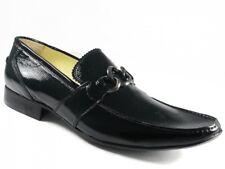 Men's Slip-on Dress Shoes by Brumas Italian Designer 70162 Black