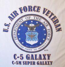 C-5 GALAXY * C-5M SUPER GALAXY  *U.S.AIR FORCE VETERAN W/AIR FORCE EMBLEM*SHIRT