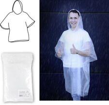 Regenponcho für Erwachsene transparent, Regencape, Poncho Regen Notfallponcho