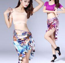 Belly Dance waist belt Training top flower multicolor Dance Practice Skirt sets