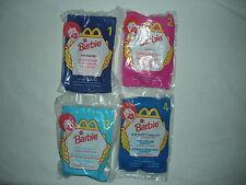 McDonald's 1998 Barbie Complete Set of 4 Teen Skipper Eatin Fun Kelly Christie