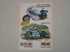 advertising Pubblicità 1976 SUZUKI DAYTONA POLISTIL