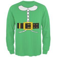 Holiday Elf Costume Irish Green Adult Long Sleeve T-Shirt