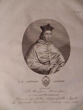 Beato Antonio Correr Cardinale 1832 Contarini Venezia acquaforte originale