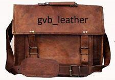 Top Trade Leather Vintage Retro Men's Laptop Computer Laptop Case Messenger Bag