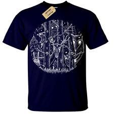 Camiseta Bosque Oscuro Para Hombre Fantasía Gótico Alice Woodland Goth Tim Burton mágico