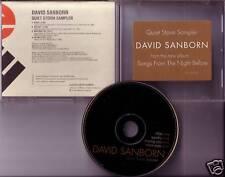 DAVID SANBORN Quiet Storm Sampler PROMO CD 4TRX dj 1996