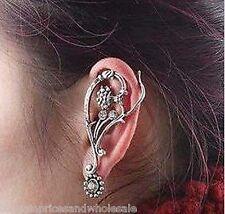 Vintage Punk Style Rhinestone Flower Alloy Stud Earring Ear Hook