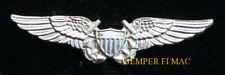 MINI NFO NAVAL FLIGHT OFFICER WING HAT PIN USS US NAVY MARINES EA18 FA18 EA6B F4