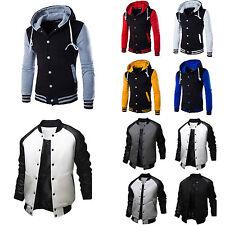 Mens Boys Varsity Letterman University College Baseball Jacket Outfits Outwear