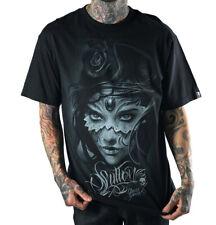 Sullen Athena by David Garcia Mens Black T Shirt Tattoo Urban Streetwear