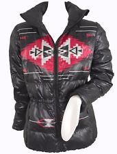 NEW Lauren by Ralph Lauren Womens Puffer Jacket!  Black with Southwest Design