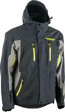 Fly Racing Incline Mens Snow Jacket Gray/Charcoal/Hi-Vis
