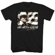 John Wayne American Legend USA Flag Men's T Shirt Cowboy Western Hero Stars