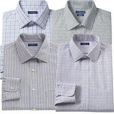 New Croft & Barrow Men Classic-Fit 100% Cotton Performance Dress Shirt MSRP $65
