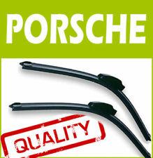2 X Frontal Aero Stlye Limpiaparabrisas Blades específicas Fit Flat Beam Para Porsche