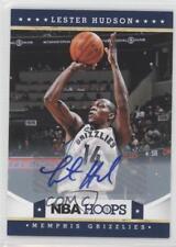 2012-13 NBA Hoops Autographs #57 Lester Hudson Memphis Grizzlies Auto Card