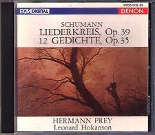 Hermann PREY: SCHUMANN Liederkreis Op.39 &12 Gedichte Op.35 DENON JAPAN 1987