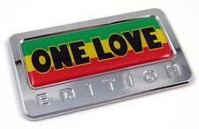 One Love Bob Marley Edition Chrome Emblem with domed decal Car Auto Bike Badge