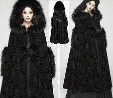 Cape longue manteau jacquard gothique lolita baroque capuche fourrure PunkRave