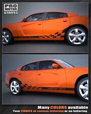 Dodge Charger Checkered Flag Rocker Panel Side Stripes 2011 2012 2013 2014
