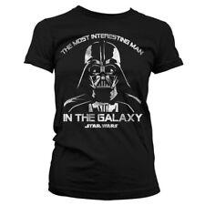 T-shirt FEMME Noir STAR WARS Dark Vador Darth Vader Taille S M L Girlie