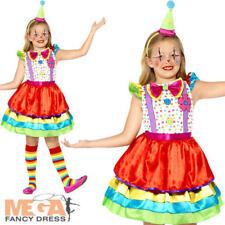Ragazze Pagliaccio Deluxe Costume Circo Divertente Carnevale Bambini Costume Outfit