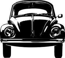 Wandtattoo VW Käfer,  Folienschnitt aus hochwertiger Wandfolie