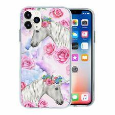 Silicone Phone Case Back Cover Fantasy Unicorn Pattern - S9522