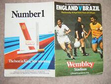 England V Brazil Program played at Wembley 19 Apr 1978