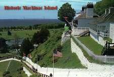 Historic Fort Mackinac on Mackinac Island, Michigan, Bridge -- Military Postcard