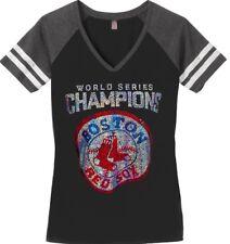 Ladies BOSTON RED SOX World Series Championship BLING T-Shirt Size WOMEN'S S-4XL
