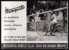 PUBBLICITA' 1949 MOSQUITO MOTO MECCANICA GARELLI SESTO SAN GIOVANNI BICICLETTA