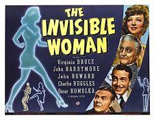 La Mujer Invisible Lienzo Arte Movie Poster 1940 estirado película de impresión SC-fi