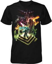 Minecraft Dragon Fight T-Shirt Men's Licensed NEW
