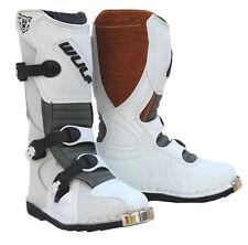 Kinder MX Motocross Motorrad Heckhaube Wulfsport La Quad Stiefel Weiß T