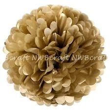 Pale Gold Tissue Paper Pompoms Flower Balls Wedding Party Decoration