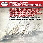 HANSON/EASTMAN-ROCHESTER ORCH. - SINFON.1+2/SONG OF DEMOCRACY  CD NEW+ HANSON