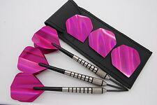 28g 30g 34g Tungsten darts set -Holographic standard dart flights, shafts, case!