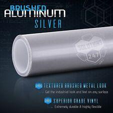 Silver Brushed Aluminum Metallic Vinyl Film Wrap Decal Bubble Free Air Release