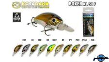 Leurre poisson nageur Boxer XL 50F KOSADAKA 50mm 11,3gr pêche perche  pike bass